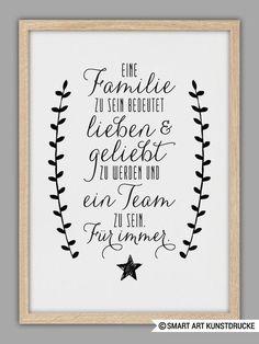 "Typo Kunstdruck ""Familie"" // typo artprint ""family"", wise words by Smart Art Kun. The Words, Cool Words, Family Quotes, Life Quotes, Family Poster, Family Print, Smart Art, Hand Lettering, Brush Lettering"