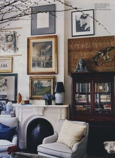 Gallery in Michael Bastian's apartment, compliments of Mrs. Blandings