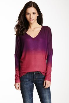 V-Neck Dolman Sweater by Go Couture on @HauteLook