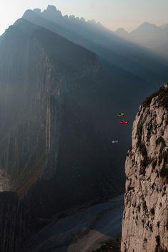 B.A.S.E. Jumping in La Huesteca, Mexico