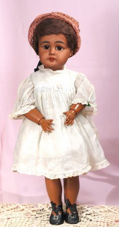 GERMAN BROWN BISQUE CHILD, 949 BY SIMON & HALBIG