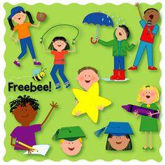 Kids Clip Art Sampler FREEBEE - Teacherscrapbook - TeachersPayTeachers.com
