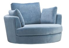 We've introduced the Snuggle in Mystere Wedgewood in support of Cancer Australia and 10 dollars from every Snuggle purchased goes towards the organisation. Swivel Armchair, Reading Nook, Interior Design, Interior Ideas, Snuggles, Playroom, Sofas, Love Seat, Plush