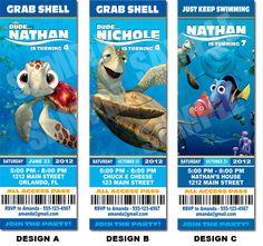 Finding Nemo Inspired Invitation Printable - Printable Birthday Party Invitation. $10.00, via Etsy.