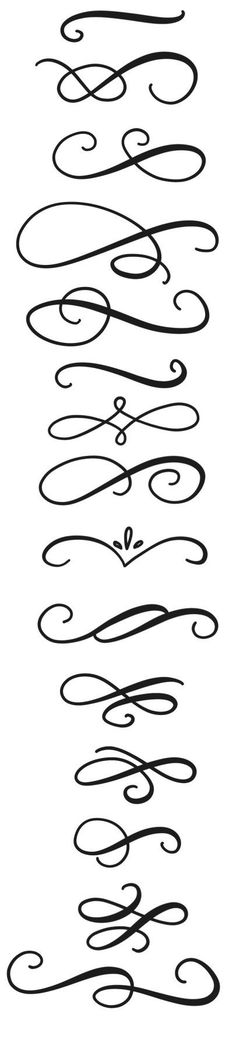Swirls & Flourishes Clip Art // Chalkboard Lettering Typography Graphics // Photoshop Brushes Vector Calligraphy // Commercial Use Calligraphy Letters, Modern Calligraphy, Calligraphy Handwriting, Tattoo Painting, Art Quilling, Lettering Tutorial, Calligraphy Tutorial, Photoshop Brushes, Brush Lettering