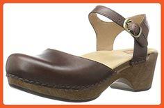 Dansko Women's Sam Flat Sandal, Teak Vintage Pull up, 38 EU/7.5-8 M US - Sandals for women (*Amazon Partner-Link)
