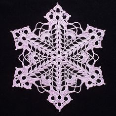 Cut-Glass Snowflake Doily Take 2   Flickr - Photo Sharing!
