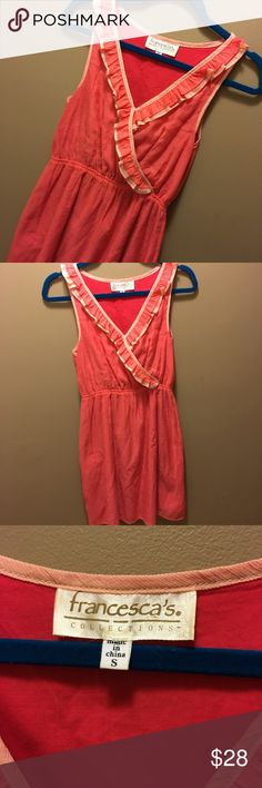 Cute Short Dress Excellent condition, size small, so cute for spring! Offers welcome! Francesca's Collections Dresses Mini
