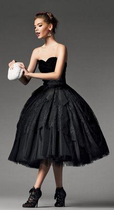 Short Black Ballerina Skirt Dress