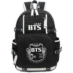 Kayisamo KPOP Bangtan Boys BTS Luminous Bookbag Shoulder Bag Backpack... ($47) ❤ liked on Polyvore featuring bts