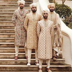 Latest Designer Wedding Sherwani Patterns for Indian Groom - LooksGud. Sherwani For Men Wedding, Wedding Dresses Men Indian, Sherwani Groom, Wedding Dress Men, Wedding Men, Wedding Attire, Summer Wedding, Menswear Wedding, Wedding Photoshoot