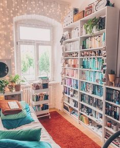 Bookshelf Inspiration, Library Inspiration, Dream Rooms, Dream Bedroom, My New Room, My Room, Simple Home Decoration, Home Libraries, Aesthetic Rooms