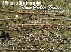 15 minutes to tarnish free Origami Owl silver-plated necklace chains with simple household ingredients. Get the recipe