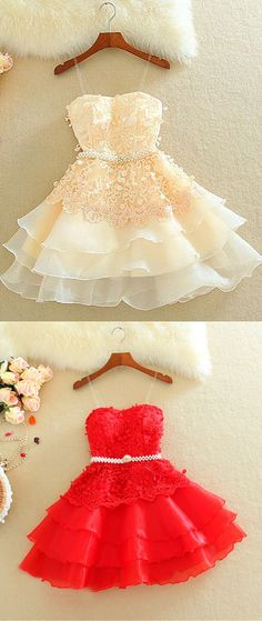 Lovely mini appliques homeocming dress, which color you choose? www.27dress.com #homecomingdress #lovely