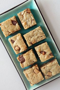 Reese's Peanut Butter Cup Blondie Recipe | POPSUGAR Food....uses 8 snack size reese's cups