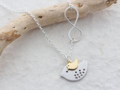 Infinity Necklace Sweet Mother and Son Bird Necklace Two