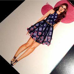 fashion illustration #dress #printeddress