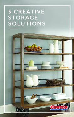 Ready to rethink your furniture? These 5 creative storage solutions and crafty hacks from Costco.com will help breathe new life into those everyday pieces. Whether you're looking to redesign your space completely or add in a fun, new detail, this guide has some really great ideas for every room in your home!