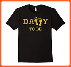 Mens Father T-shirt Daddy to be nice one gift shirt on father day Large Black - Holiday and seasonal shirts (*Partner-Link)