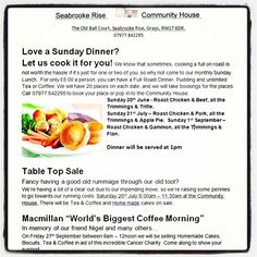 Lots of fantastic fundraising going on at Seabrooke Rise Youth Club in + everyone's welcome! Macmillan Coffee Morning, Youth Club, Community Housing, Sunday Dinners, Fundraising Ideas, Dinner Table, Morning Coffee, Roast, Lunch