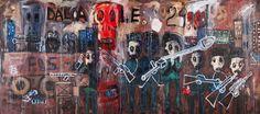 Aboudia, Daloa 29, 2011, acrylic and mixed media on canvas