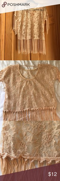 Lace Floral Top Worn once, such a nice summer top, no rips/pulls Haute Society Tops