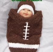 Football Baby Hat and  Cocoon - via @Craftsy