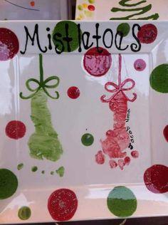 Mistletoes Christmas Baby Ceramic Gift Idea