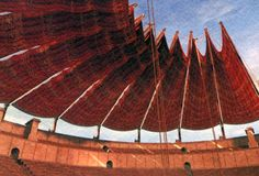 Velarium - Red awnings stretched over the collesium