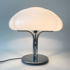 View this item and discover similar for sale at - Amazing, rare and large Mid-Century Modern table lamp. Designed by Gae Aulenti in Manufactured by Harvey Luce or Harvey Guzzini in Italy. Modern Lighting, Lighting Design, Ste Marguerite, Furniture Decor, Furniture Design, Interior Architecture, Interior And Exterior, Table Lamps For Sale, I Love Lamp