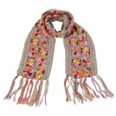 Colorful Crochet Scarf with Tassel SC07—GRY-ML—A04-colorful-handmade-scarf-nirvanna-designs