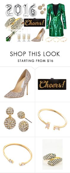 """Accessorize with Jewel Cult - NYE 2016"" by jewelcult ❤ liked on Polyvore featuring Jimmy Choo, Edie Parker, women's clothing, women, female, woman, misses, juniors and nyestyle"
