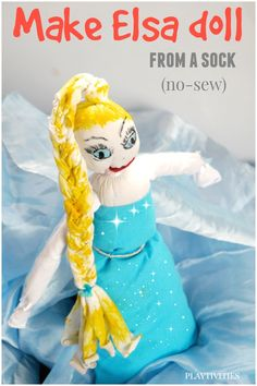 How to make a sock doll. And it's not just ordinary doll - it's Elsa Doll from Frozen.