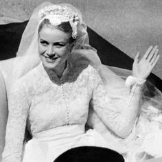 Grace Kelly married Prince Rainier in Monaco during an elaborate wedding in April Relive the magical day–or see it for the first time!–with these incredible ceremony and reception photos. Grace Kelly Wedding, Princess Grace Kelly, Princess Kate, Royal Brides, Royal Weddings, Vintage Weddings, Wedding Dress Backs, Wedding Dresses, Kelly Monaco