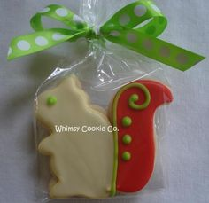 It's a red, buff, and green Alpha Gam squirrel cookie. Enough said.