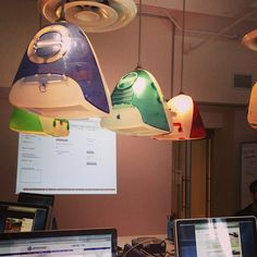 Lamps made of iMac G3s