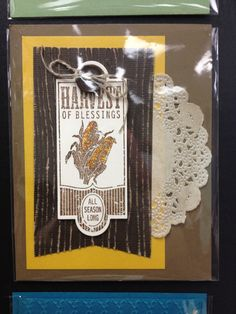 Stampin' Up! Card harvest thanksgiving fall