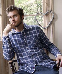 Autumn fashion inspiration for men... The Blue Check Shirt