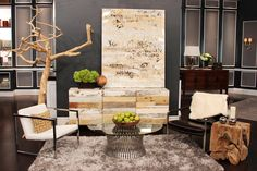 Zenporium's Coffee Tree Sculpture and Tero Teak Root Block are featured in a Modern Rustic Decor segment on Steven and Chris Exterior Design, Interior And Exterior, Interior Ideas, Modern Rustic Decor, Tree Sculpture, Western Decor, Where The Heart Is, Home And Living, Earthy