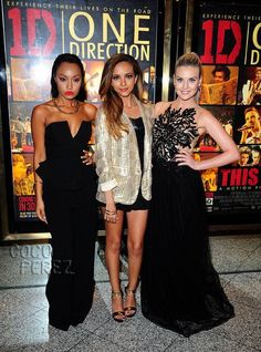 Little Mix take the One Direction movie premiere by storm! And Perrie Edwards has a ring on her finger!