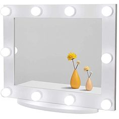 Waneway Hollywood Vanity Mirror with Lights, Large Lighted Makeup Mirror for Dressing Room & Bedroom, Light-up Dressing… Bulb Mirror, Wall Mirrors, Framed Wall, White Vanity Mirror, Hollywood Vanity Mirror, Large Lighted Makeup Mirror, Makeup Mirror With Lights, Light Up Dresses, Broken Mirror