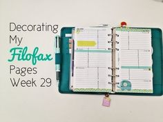 Filofax Friday: Decorating Pages Week 29