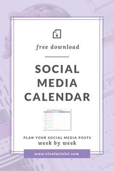 Use this printable Calendar to plan your social media posts week by week and get organized. Download now!