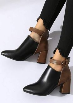 Buckle Strap Pointed-Strap Heeled Boots Shoe Boutique, Pointed Toe Heels, Strap Heels, Shoes Online, Heeled Boots, Booty, Fashion, High Heel Boots, Moda