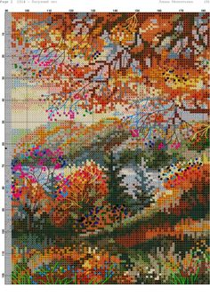 Gallery.ru / Fotoğraf # 3 - 20 - Kento Cross Stitch Tree, Simple Cross Stitch, Easy Cross Stitch Patterns, Cross Stitch Designs, Cross Stitching, Cross Stitch Embroidery, Pixel Art Templates, Blackwork Patterns, Flower Painting Canvas