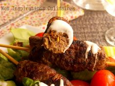 Brochettes de kefta (viande hachee)