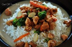 BROCCOLI and CHICKEN STIR-FRY » Get Off Your Butt and BAKE!