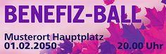 Werbebanner für Events jetzt bei onlineprintXXLversandkostenfrei online bestellen #banner #bannerdesign #bannervorlage #ball #bannerball