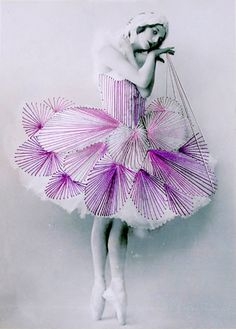 Filed under Embroidery on photo Serie Dance by Jose Romussi February 2012