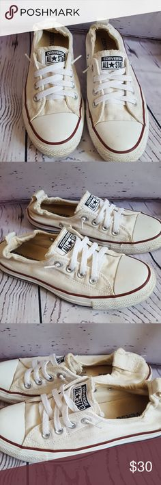 Converse All⭐Star GREAT CONDITION  Probably with a lil cleanin would look brand sparklin new! NEVER WORN WITHOUT SOCKS 🤢 SIZE 7  ONLY SELLING BECAUSE THEY ARE A LIL TOO TIGHT WILL BE BUYING THE EXACT SAME SHOES WITH MY MONEY😁 Converse Shoes Sneakers
